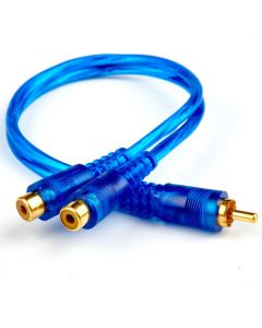 In Phase IP2F RCA Splitter Lead (2 Female to 1 Male) For Headunits With Only 1 Preout