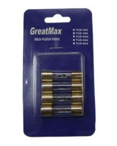 IP50A Glass 50 Amp Gold Plated Fuse Quad Pack